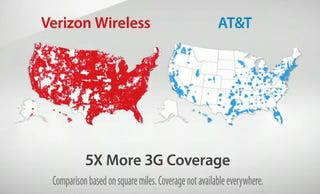 ATT Suing Verizon Because Map Ad Is Confusing To Dumb People And - Verizon cell phone coverage map