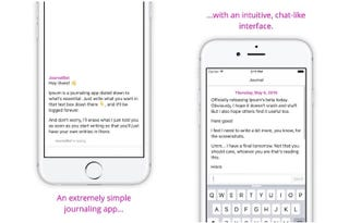 Illustration for article titled Ipsum Is a Journaling App for iPhone That Simplifies Writing into a Chat-Like Vertical Scroll