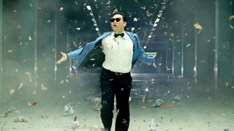 """Illustration for article titled Justin Bieber's manager signed the """"Gangnam Style"""" guy"""