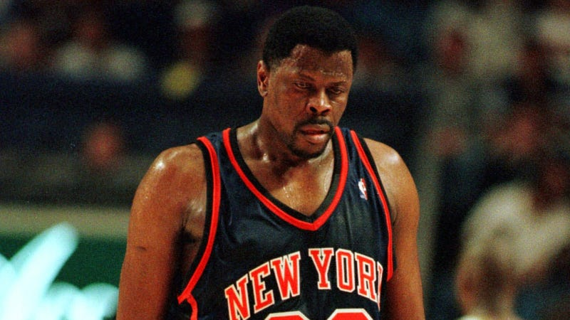 Illustration for article titled Grody Sweat Monster Patrick Ewing Was Also A Germophobe