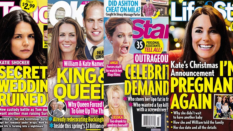 Illustration for article titled This Week In Tabloids: Buckingham Palace 'Confirms' William and Kate Have Been Named King and Queen