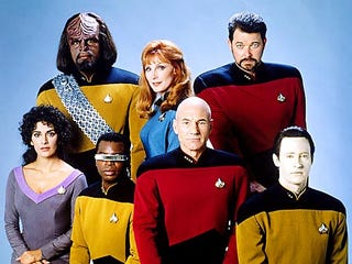 Illustration for article titled ST: TNG Cast Reunite In Cartoon Form