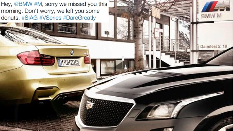 Illustration for article titled Cadillac Is Trolling Europe
