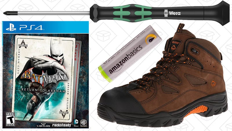 Illustration for article titled Today's Best Deals: Work Boots, Hand Tools, Batman Games, and More
