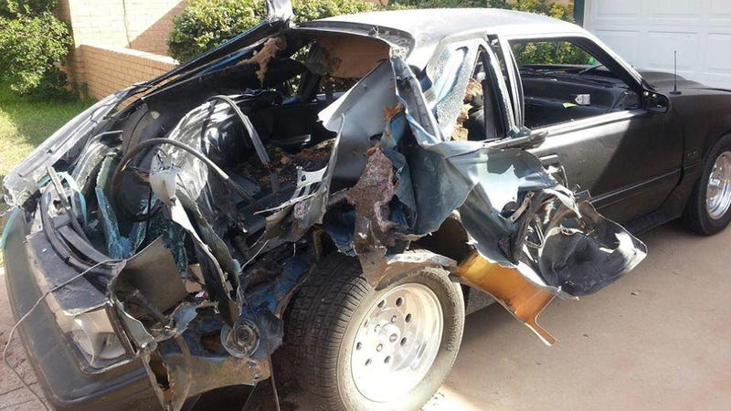 What A Car Looks Like When A Nitrous Bottle Explodes Inside