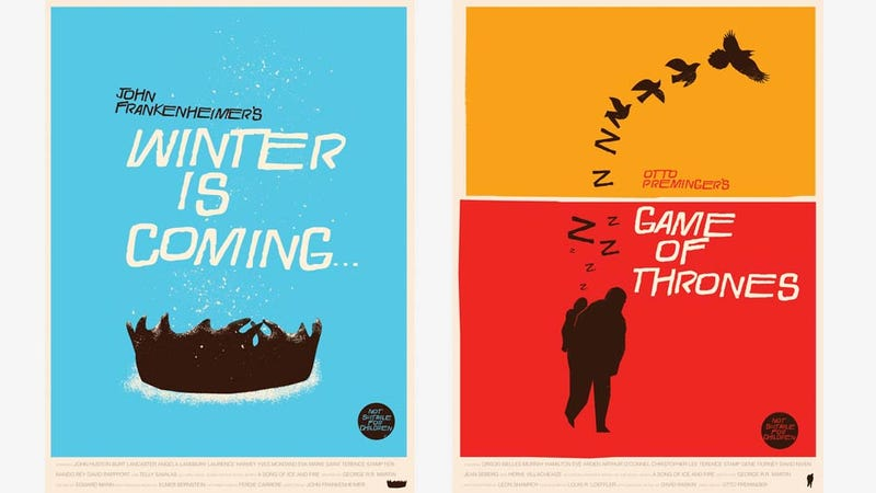 Illustration for article titled Game of Thrones Movie Posters from Famous Directors Are Just Too Cool