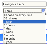 Get a temporary email address with Spambox