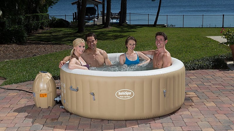 SaluSpa Palm Springs AirJet Inflatable Hot Tub, $300