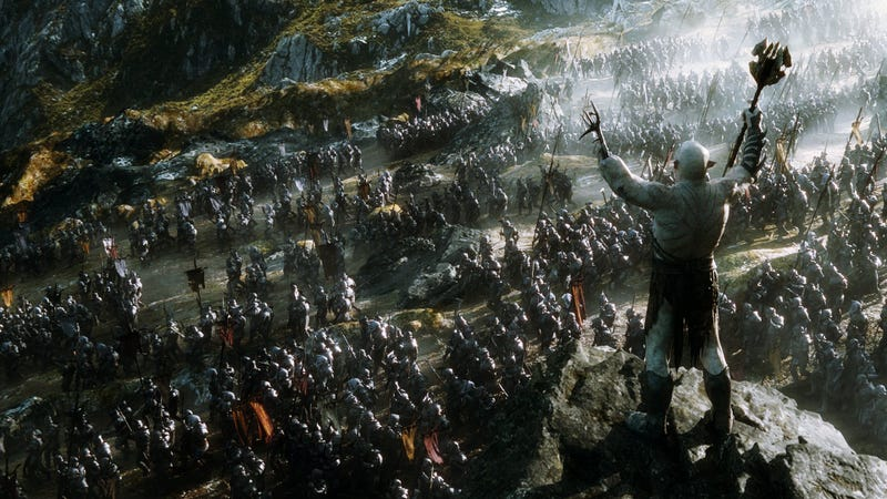 Illustration for article titled The Crappy Diagram That Reveals The Hobbit Trilogy's Epic Final Battle