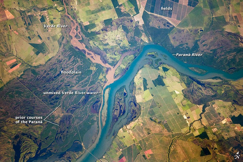 This Is A Beautiful Glimpse Of A Shifting River - Parana river map