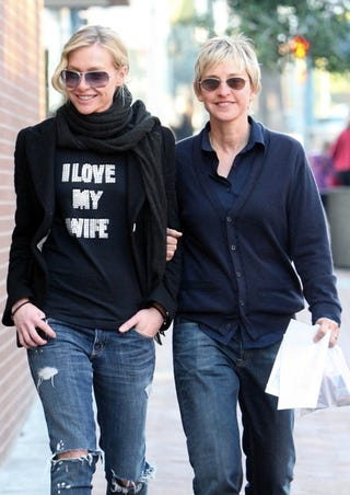 Illustration for article titled Ellen and Portia Fight H8 With Love