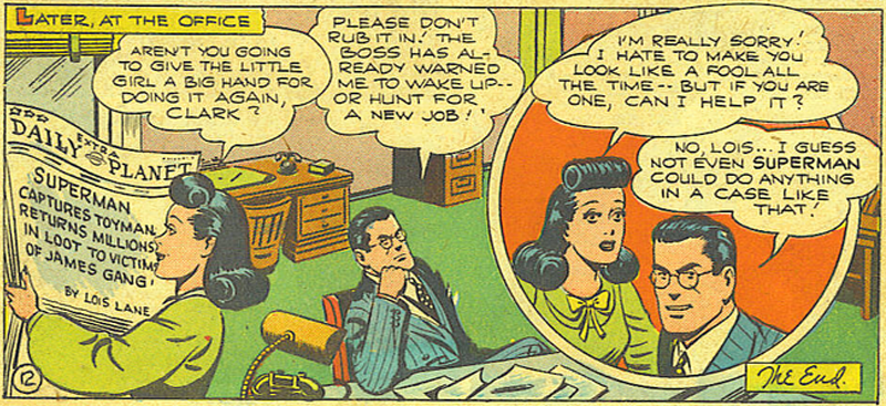 Illustration for article titled A Reminder That Clark Kent and Lois Lane Used to Pretty Much Hate Each Other