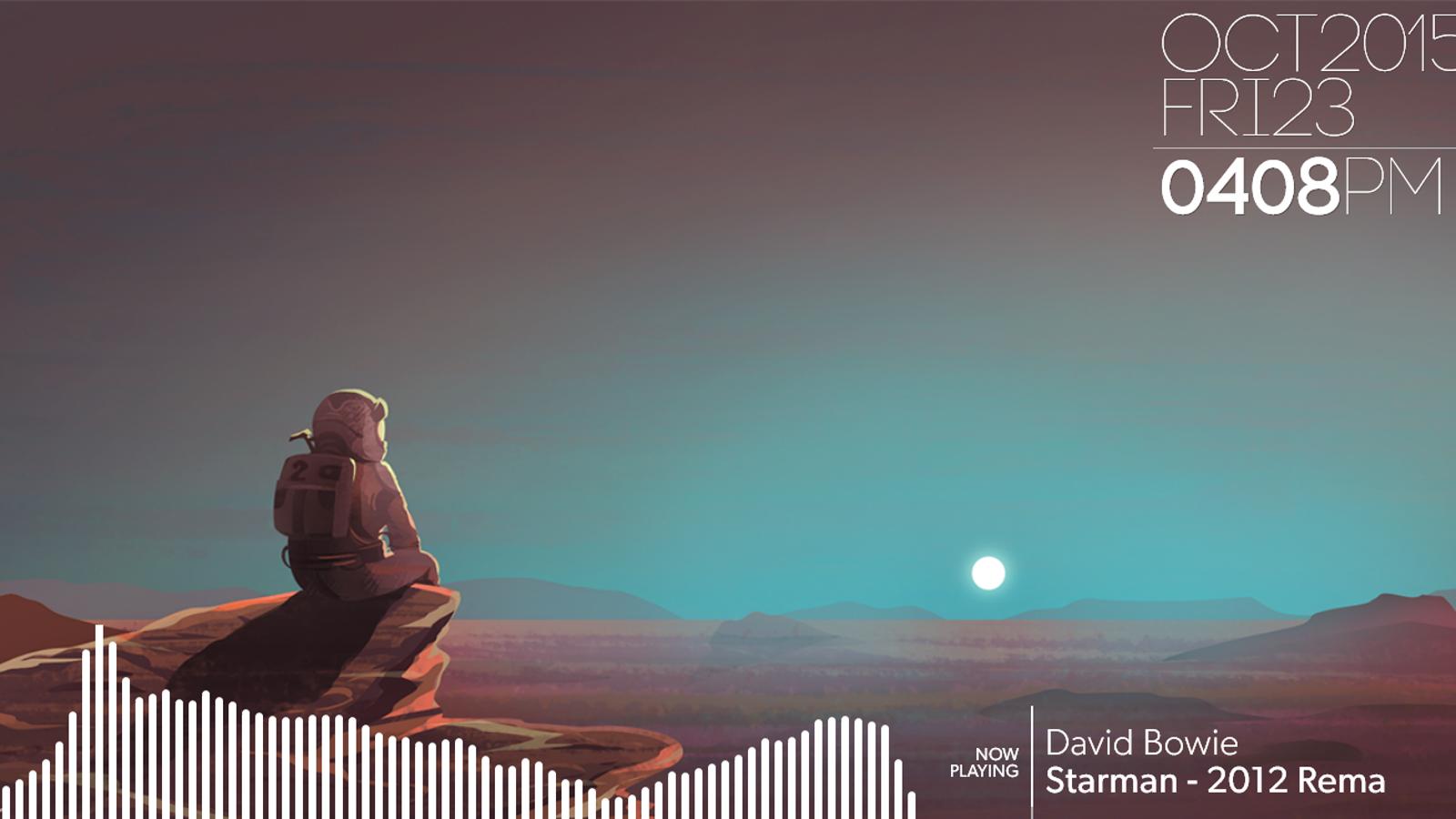 The martian desktop - Mars sunset wallpaper ...
