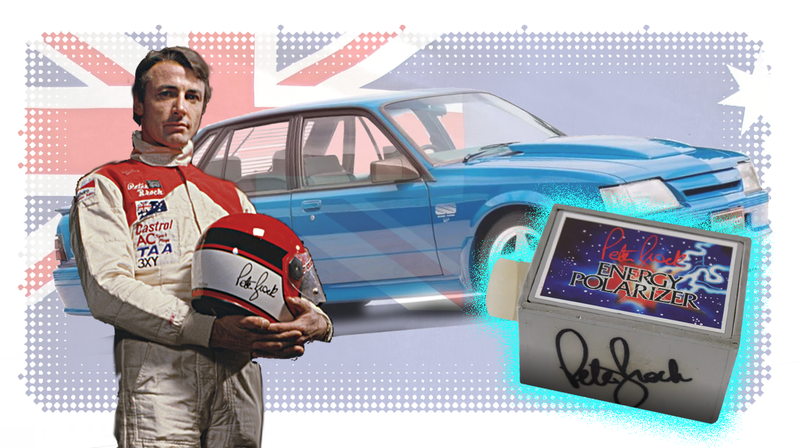 Illustration for article titled How A Box Of Magic Crystals Brought Down Australia's Most Famous Race Car Driver