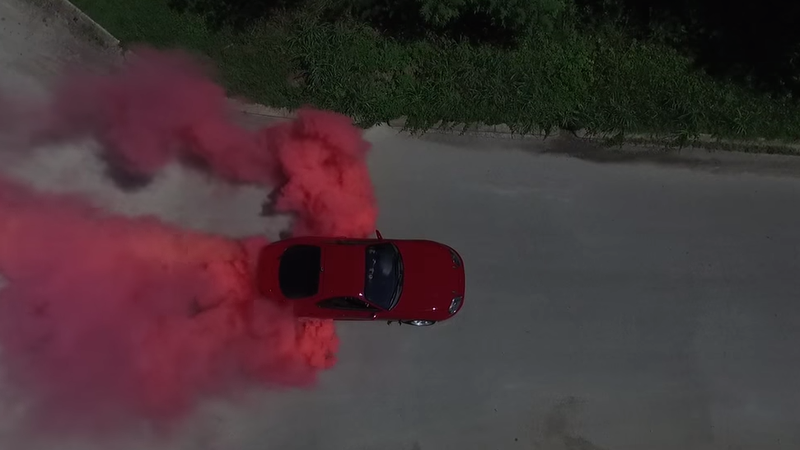 Burnout Colored Tires >> Proud Dad-To-Be Reveals Baby's Gender With Sick Burnout