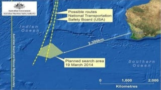 Illustration for article titled Search Area For MH370 Drastically Reduced By New Satellite Info