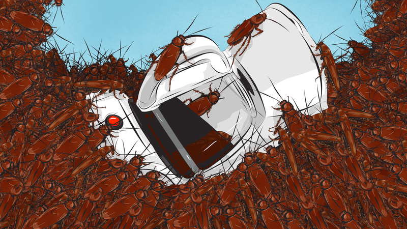 Illustration for article titled How To Clean A Roach-Infested Coffee Maker