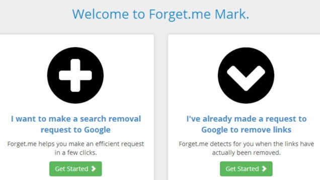 Forget me Helps Remove You from Google Search Results