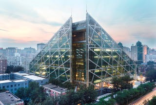 Illustration for article titled Robots, Modern Art, Star Wars Collide in Beijing's Glass Pyramid