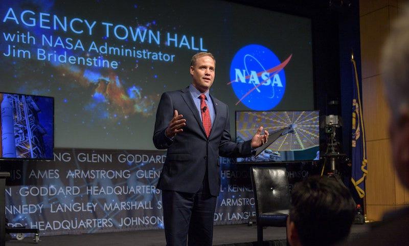 El nuevo jefe de la NASA James Bridenstine. Imagen: NASA