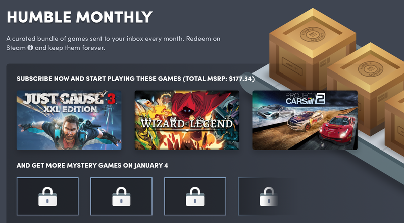 1 Year Humble Monthly | $99