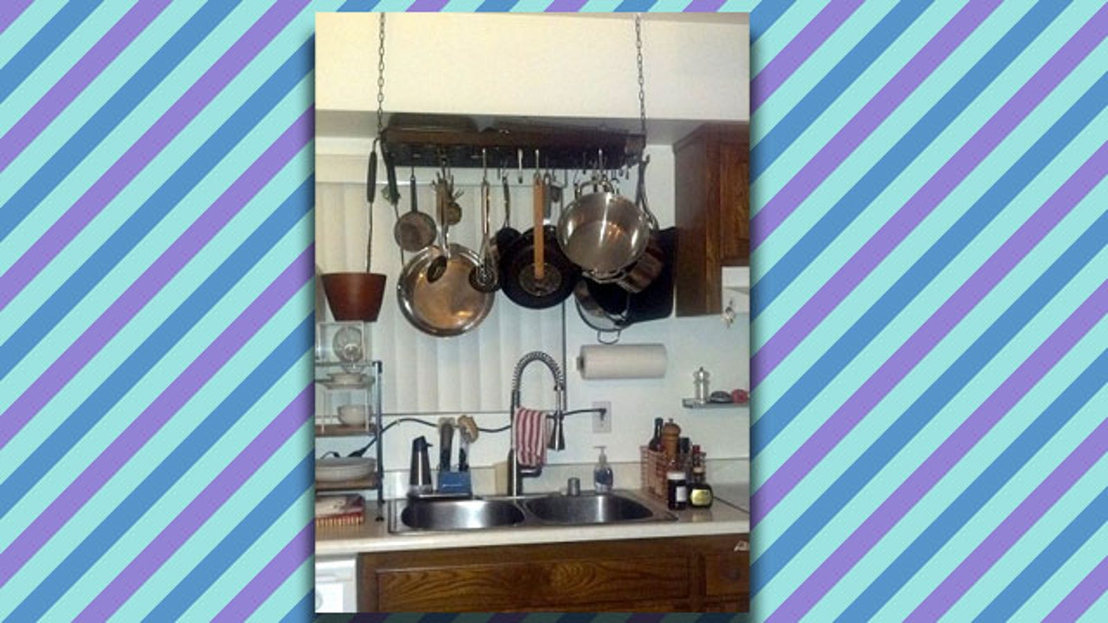Skip Drying Your Pots and Pans by Hanging a Pot Rack Directly Over ...