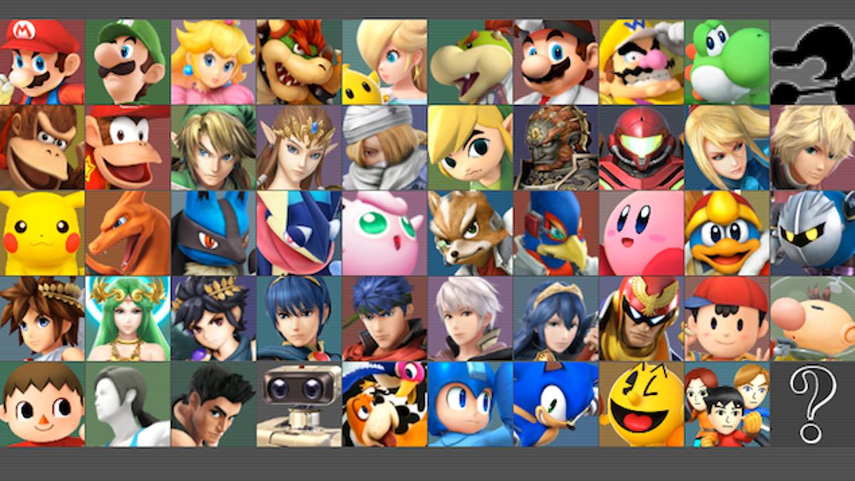 Heres The Full Roster For Super Smash Bros
