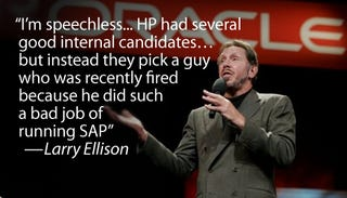 Illustration for article titled Oracle CEO Ridicules HP's Newly Appointed CEO
