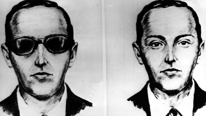 An artist made these sketches of the skyjacker known as Dan Cooper from the recollections of the passengers and crew of a Northwest Airlines jet he hijacked between Portland and Seattle on Thanksgiving eve in 1971. Photo: AP)