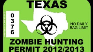 Illustration for article titled Grab a zombie hunting permit before you go head-hunting