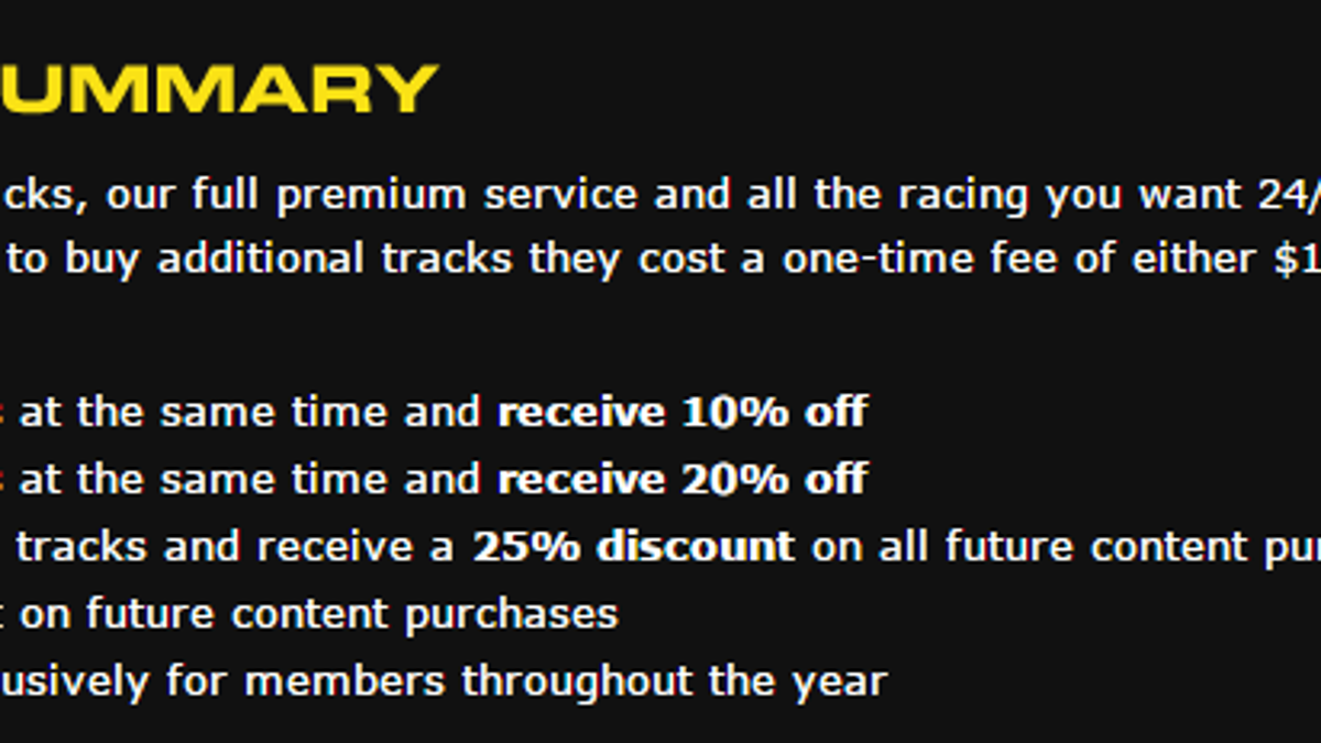 A Beginner's Guide to iRacing - The Money