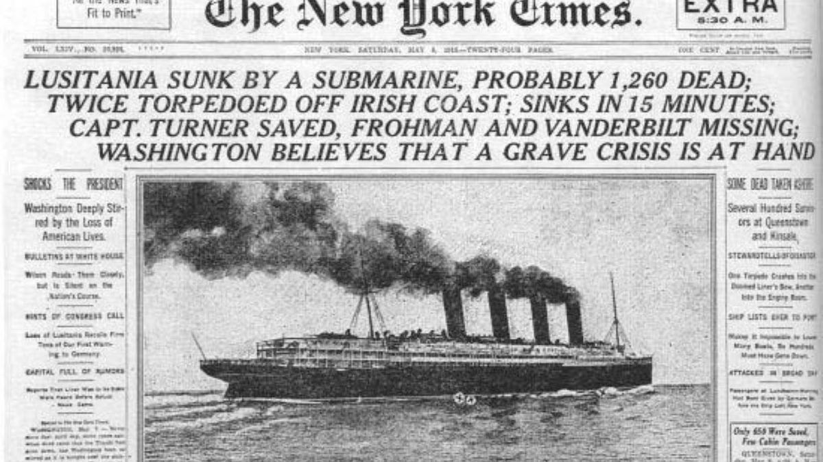 How The Sinking Of The Lusitania Heralded An Entirely New