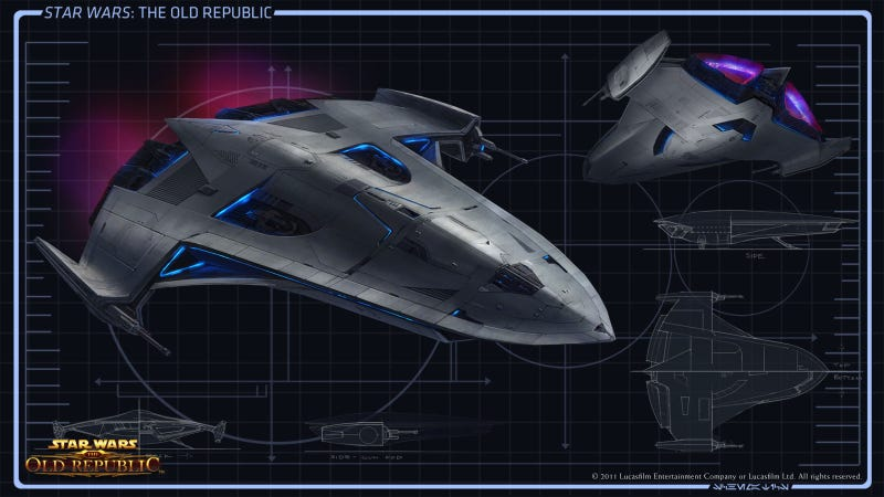 Illustration for article titled Where Do Star Wars: The Old Republic Starships Come From?