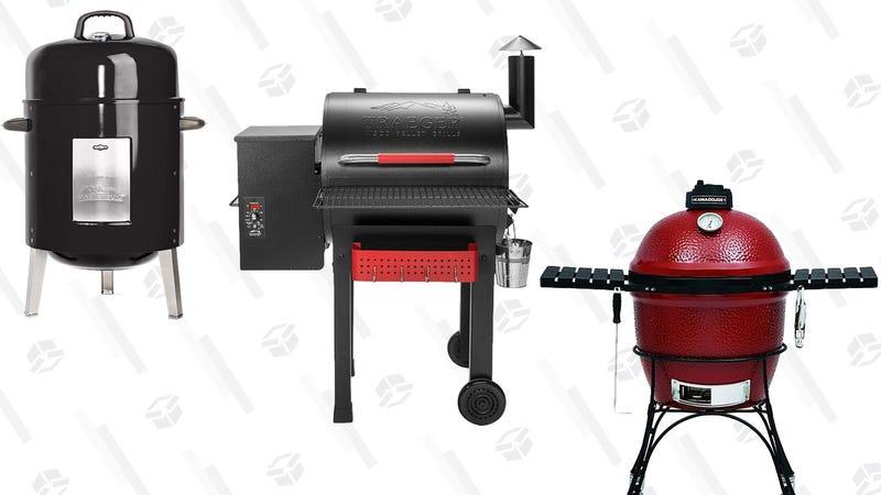 Asador Masterbuilt de carbón | $45 | AmazonAsador Traeger de madera | $595 | AmazonAsador Kamado Joe | $696 | Amazon