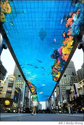 Illustration for article titled World's Biggest Fake Fish Tank