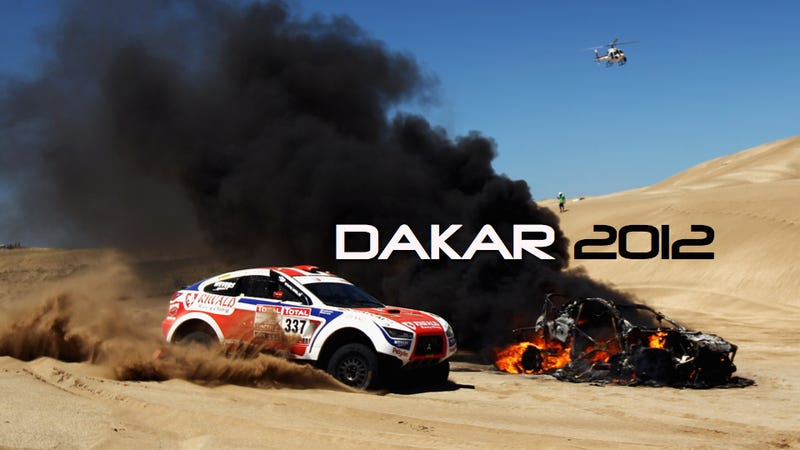 Illustration for article titled The Dakar Race Looks Pretty Much Like A Post-Apocalyptic Hellscape