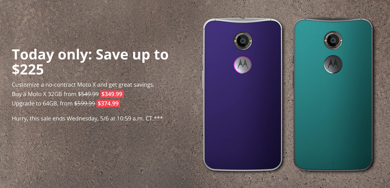 Illustration for article titled Friendly Notice: Moto X (2nd Gen.) Sale!