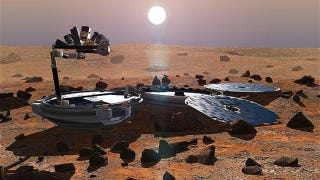 Illustration for article titled The Remains Of Britain's Missing Lander May Have Been Spotted On Mars
