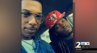 Marquez Tolbert and his boyfriend, Anthony GoodenWSB-TV