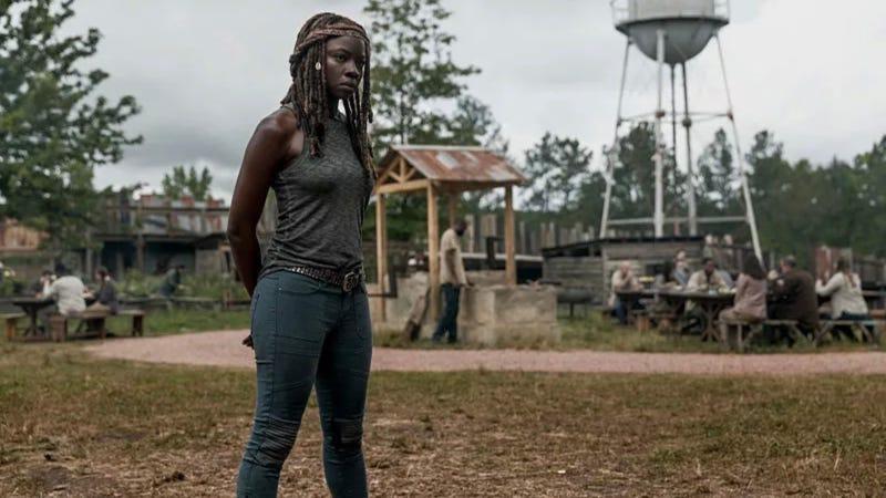 Michonne (Danai Gurira) in the latest episode of The Walking Dead.