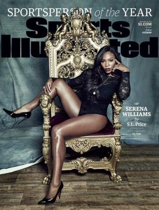 Serena Williams on Sports Illustrated's 2015 Sportsperson of the Year coverSports Illustrated
