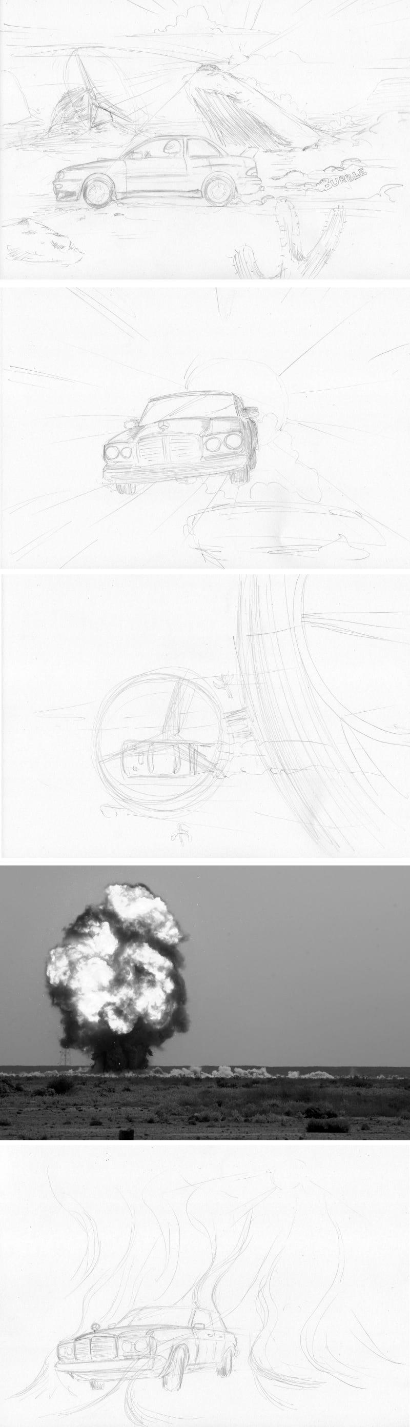 Illustration for article titled I Made a Comic: W123 vs 93-01 Impreza
