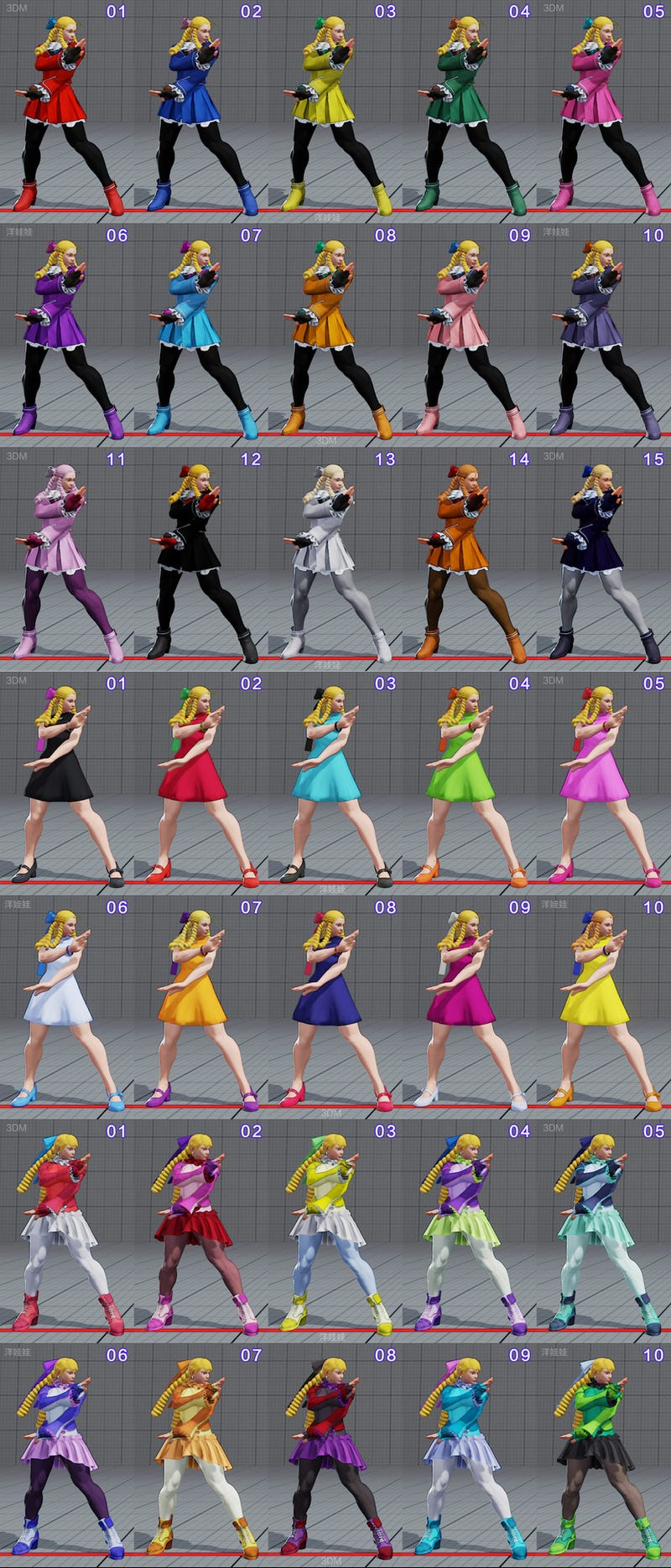 All Of Street Fighter V S Costumes So Far In Every Colour