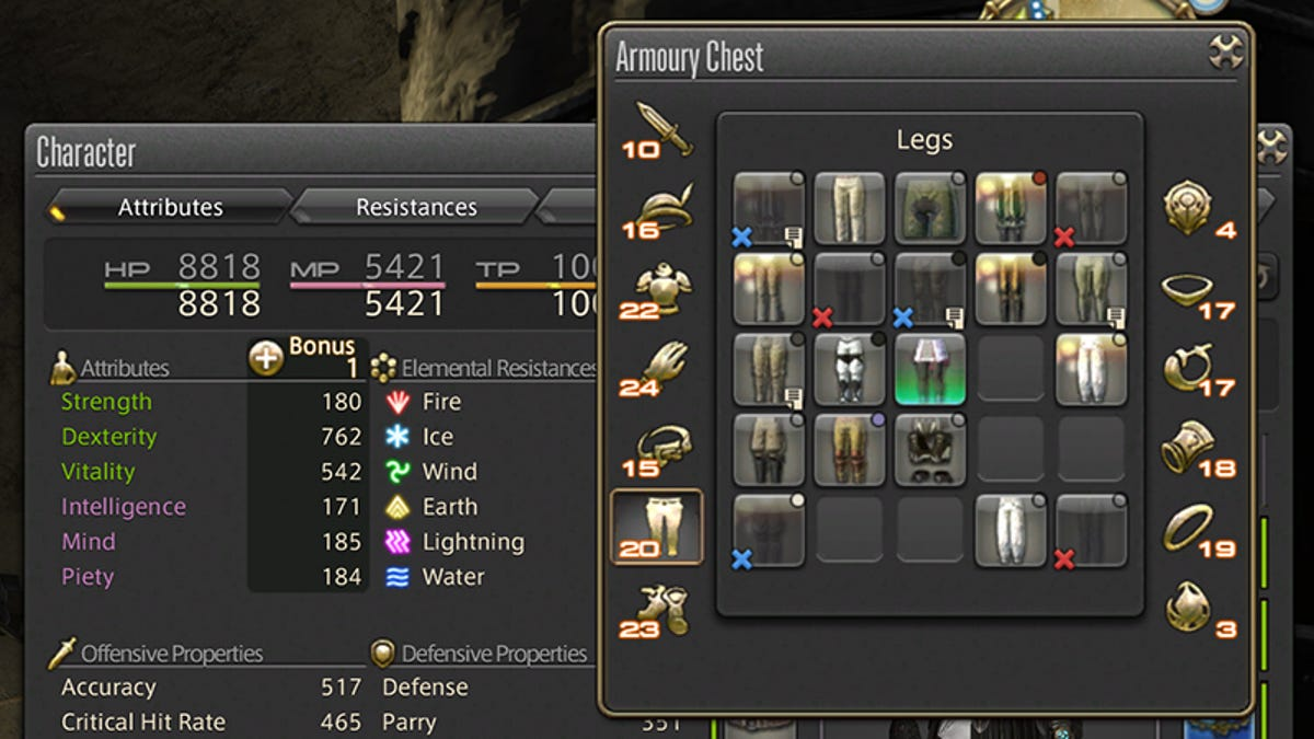 Final Fantasy XIV Finally Gets An Optimize Equipment Button, And