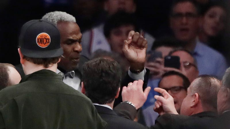 Charles Oakley Ejected From Knicks Game For Altercation in The Stands