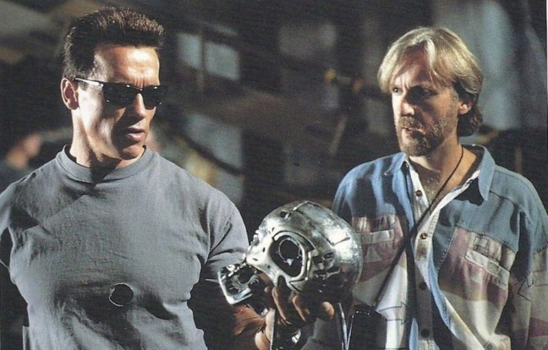 James Cameron on the set of Terminator