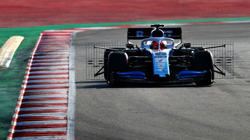 Williams' Robert Kubica testing in Spain last week.