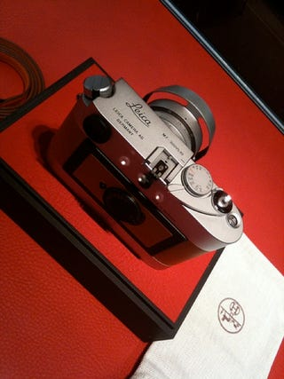 Illustration for article titled Super Expensive, Incredibly Limited Edition Leica M7 Hermes Could See Monday Release