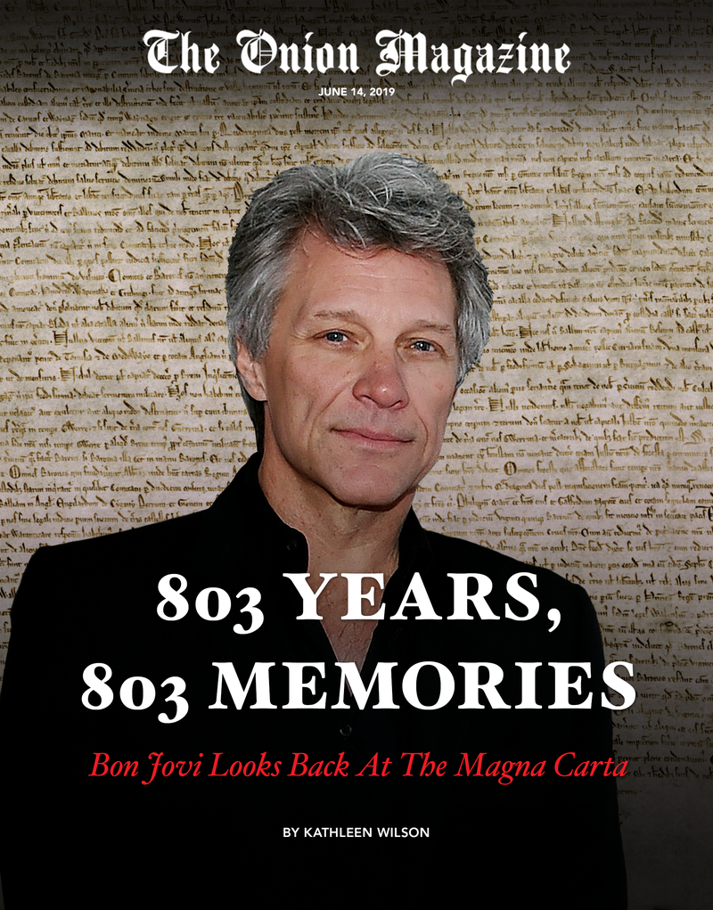 Illustration for article titled 803 Years, 803 Memories: Bon Jovi Looks Back At The Magna Carta