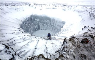 Illustration for article titled Scientists Have Climbed To The Bottom Of The Mysterious Siberian Crater
